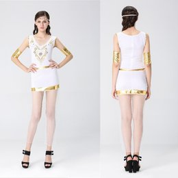 Wholesale Halloween Greek goddess role playing ancient Egyptian queen cleopatra costumes Club theme party stage role playing stage performance