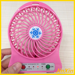 Wholesale Mini Portable Fan Multifunctional USB Rechargeable Kids Table Fan LED Light Battery Adjustable Speed F95B Multi Color In Stock