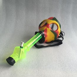 Wholesale Silicone Mask Creative Acrylic Smoking Pipe Gas Mask Pipes Acrylic Bongs Tabacco Shisha Pipe water pipe