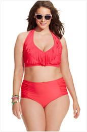 Tassels Plus Size Ladies Swimwear Removeable Pad Blue Swimsuit Halter Bathing Suits Fringe Plus Size Bathing Suit Bottoms Bikini