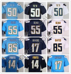 Wholesale San Diego football jerseys Nik elite Chargers rugby jerseys Dan Fouts Philip Rivers Manti Te o Junior Seau drop