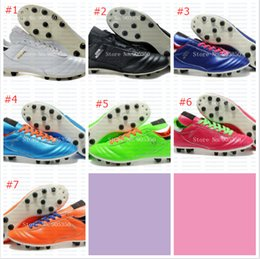 Wholesale Hot sale Mens Copa Mundial Leather FG Soccer Boots World Cup Soccer Shoes Orange Cleats athletic football shoes botines futbol