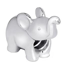 925 Sterling Silver New Fashion Cute Elephant Charm European Charms Bead Fit Pandora Snake Chain Bracelet DIY Jewelry Wholesale 113