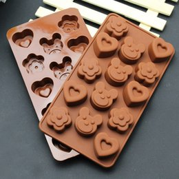 14-15 Cavity Flowers Bear Heart Muffin Case Candy Jelly Ice Cake Silicone Mould Mold Baking Pan Tray