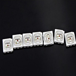 1500PCS 16-19LM White Red Blue Green yellow PLCC-6 5050 SMD 3-CHIPS LED Lamp Diodes Ultra Bright SMD 5050 SMD LED Free shipping