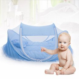 Wholesale Folding Baby Crib Years Baby Bedding Mosquito Net Portable Foldable Baby Bed Crib Mosquito Netting Cotton Sleep Travel Bed