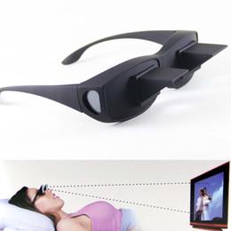Tv prisma en Línea-Horizontal Gafas Gafas de mentira perezoso marco de las lentes Prisma Negro Gafas Hombres Mujeres cama viendo la TV Movie lectura