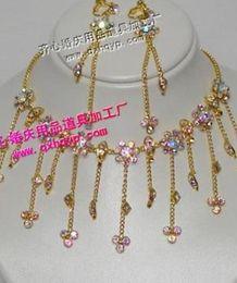 white crystal diamond bride wedding set necklace earings yhiyryryr