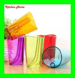 Colorful Transparent Plastic Gargling Cup Creative Toothbrush Cup Toothbrush Holder Bathroom Accessories Home Decoration Free shipping