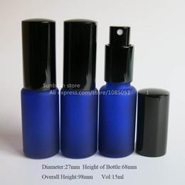 Bouteilles bleu cobalt gros en Ligne-bleu cobalt bouteille en verre dépoli de DHL Livraison gratuite 500x15 avec pompe lotion, Essential Bouteille de pompe à huile, gros usine