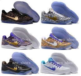 Wholesale Men Kobe EM Mamba Day Basketball Shoes Kobe XI ZK11 AEC Low Elite Athletic Sports Shoes Boots Black Gold With Box