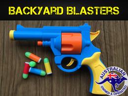 Wholesale Realistic Scale ACP Revolver Prop Rubber Bullet Pistol Toy Gun