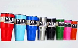 Wholesale YETI Coolers Stainless Steel Mugs oz Automotive glass YETI Large Capacity YETI Stainless Steel Car Cup Liquid Cup Car Vacuum Cup Whole