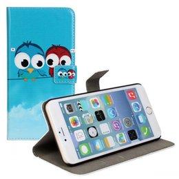 Wholesale Korean Couple Wallet - lphone6 plus The cartoon eagle Japanese and south Korean style cellphone cases couples plain wallet style apple 6 plus phone cases