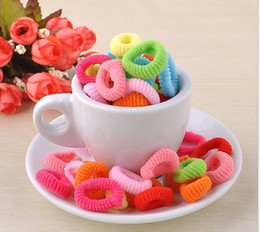 Hot sale 200pcs Mixed Colour Gril Baby Children Mini Ponytail Elastic Rubber Hair Bands Ties Hairband