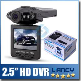 2.5 '' cámara de la cámara del registrador del coche DVR de las cámaras de la leva del coche cámara negra del cuadro H198 de la versión de la noche Cámara de la rociada del registrador video 6 IR LED desde cámaras de guión recuadro negro fabricantes