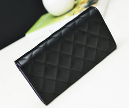 Wholesale 2016 Luxury top quality fashion Designers women s Quilted Leather long Handbags Wallet Purse Clutch Holders Ladies cc wallet