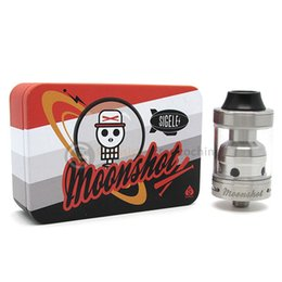 Wholesale Sigelei Moonshot rda Top filled Glass Tank Two Post Design Wide Adjustable Airflow Control Valve Clone Moonshot RTA Tank DHL Free Ship