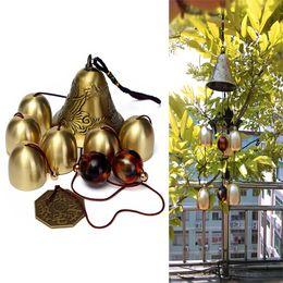 Wholesale 6 Bells Copper Clock Yard Garden Outdoor Living Amazing Wind Chimes