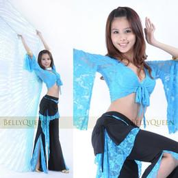 Wholesale 2016 The new Lace pants lace blouse advanced belly dance practice clothes suit clothing
