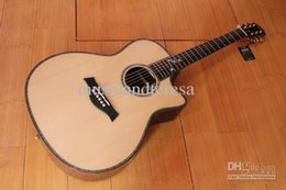 Wholesale New brand K916C acoustic guitar with solid wood body with back