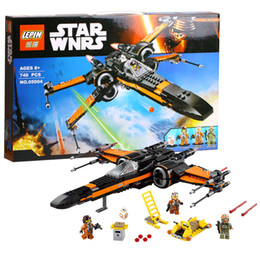 Wholesale 748pcs lepin Super Heroes Star Wars First Order Poe X Wing Star Fighter Building Blocks BB MiniFigures compatible with legoed