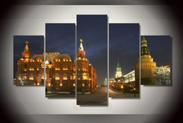 5 Piece HD Printed moscow russia kremlin city Painting Canvas Print room decor print poster picture canvas Free shipping