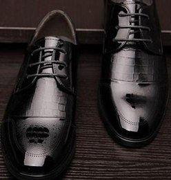 2016 new spring business dress shoes leather shoes a crocodile embossed