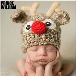 Wholesale Newborn Baby Girl Boy Crochet Knit Beanie Costume Photo Photography Prop Cap Hat Hair Accessories Online Sale