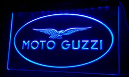 LS083-b Moto Guzzi Motorcycle Neon Light Sign