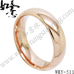 High Polish Half Round Rose Gold Tungsten Ring Jewelry Finger Ring WRY-511 Hot Sales 6mm