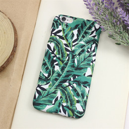 Elegant Design Cell Phone Cases Green Plants Painting PC Phone Covers for iphone 6S 6SPlus 5s 76
