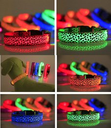 Pets luminous collar, LED night light dog collar New warning to prevent pet collar