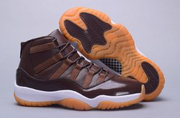 Wholesale chocolate color Basketball Shoes XI Good Quality Men Sports Shoes Mens Trainers Athletics Boots Retro Cheap Sneakers