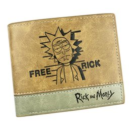 NEW TOP Rick and Morty Anime Wallet Cosplay Short Hot Gift Card Holder Money Bag of Comics Colorful Purse