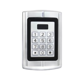 Wholesale RFID KHz EM Card Backlit Keypad Metal Case Access Control for Door Entry Security Protective Rain Cover F1291D