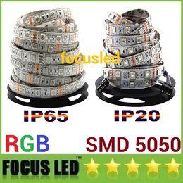 5050 Led RGB Strips Lights 12V Waterproof Led Rope Lights Strips 5M 300LEDs For Christmas KTV Bar Lighting