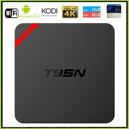 Wholesale Upgrade T95N Mini MX Amlogic S905X Android TV BOX Kodi K Live TV VS MXQ S805 S905 M8S Smart TV BOX