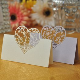 100pcs Lot Love Heart Laser Cut Wedding Party Table Name Place Cards Favor Decor Wedding Decoration Baby Shower Event Party Decoration