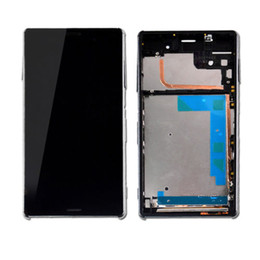 100%Origina Lot New Z3 mini LCD Display + Frame +USB Cover Set for Sony Xperia Z3 Compact LCD Touch Screen Assembly Free DHL Black and white