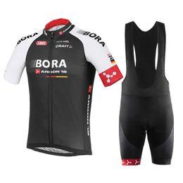 2017 Nouveau Bora Argon 18 vêtements de vélo à manches courtes pour les hommes / femmes Top cyclisme Jersey + cyclisme (bavoir) Shorts Set Manga Corta Maillot à partir de nouvelle femme jersey fabricateur