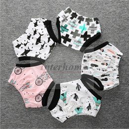 Wholesale Baby Ins PP Pants Ins Batman Shorts Banana Fox Bloomers Panda Fish Briefs Diaper Triangle Pants Kids Summer Pants Ins Baby Clothing B389