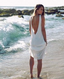 NEW! Fashion Chiffon Summer Dresses Sexy Women White Beach Dress Casual O-Neck Backless Long Maxi Dress