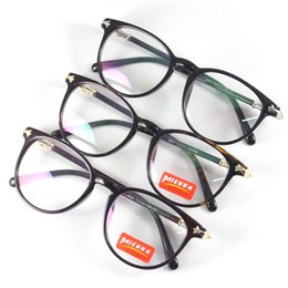 Wholesale Women Adult Glasses Eyewear Rould Full Rim Frame Spectacles Reading Rx Eyeglasses Rectangle Shade Optical Demo Clear Lenses Fashion