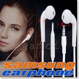 Wholesale S6 S6 EDGE earbuds HEADSET WHITE integrated microphone Stereo Earphones with mic volume control For Galaxy S4 S5 S6 Note with box