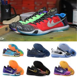 Wholesale 2016 What the kobe Elite Weaving Retro Mens Basketball Shoes Sneakers Best Quality KB X Dark Atomic Sneakers Training Shoes Size
