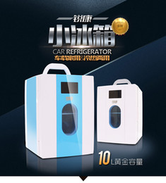 Wholesale 10L Car mini refrigerator Household Mini Refrigerator with a fridge freezer heating cosmetic breast milk cooler