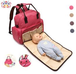 Multifunctional shoulder Mummy package Baby Diaper Nappy Bag Backpack Womens Handbag Tote