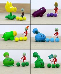 2016 New Plants vs Zombies Figure Toys Gatling Pea ABS Shooting Doll PVZ Toys 15 styles for choices 1PC