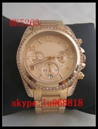 Wholesale TOP QUALITY BEST PRICE New Jet Set Stainless Steel Chrono Ladies Watch MK5263 MK5165 MK5166